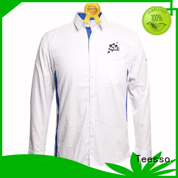 Teesso striped uniform shirt with zipper for women