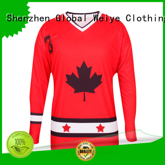 Global Weiye funny unique hockey jerseys hot sale for men