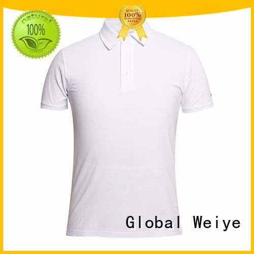 white polo shirt mens embroidery logo in sleeves