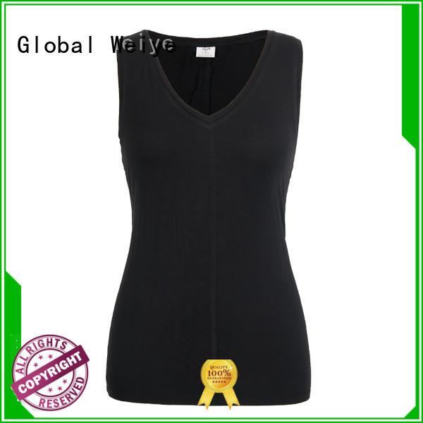 Global Weiye low cut womens sleeveless tanks fitness for advertising