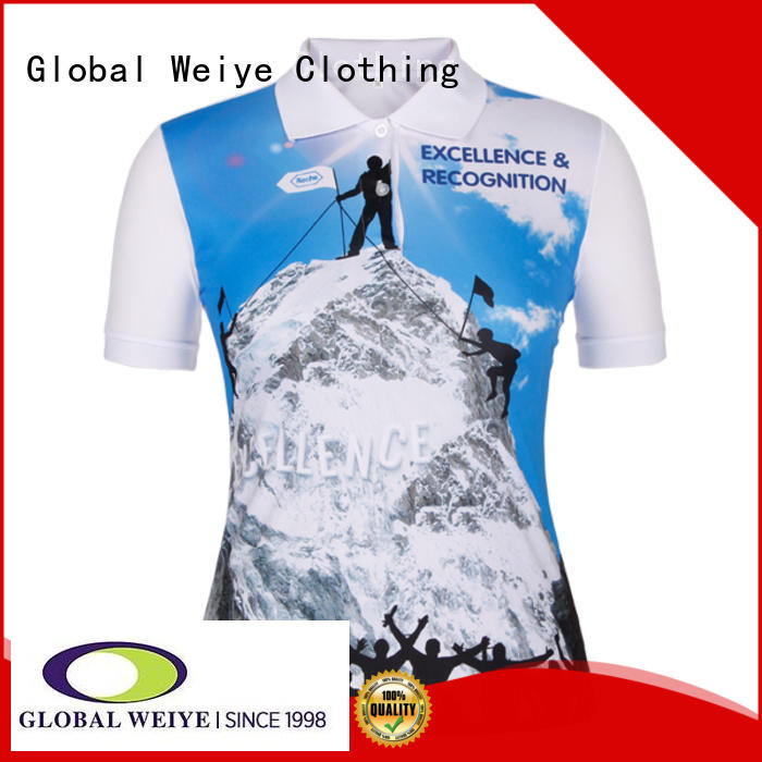 Global Weiye customized misses polo shirts high quality for girls