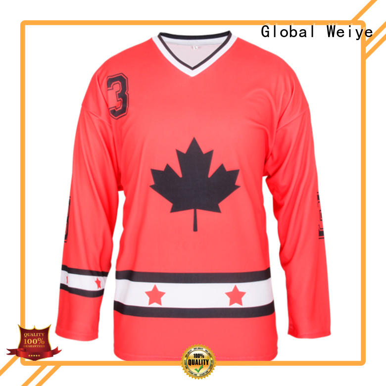 Global Weiye hot sale official hockey jerseys printing wholesale