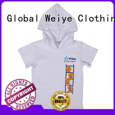 Global Weiye designer kids shirts long round for children