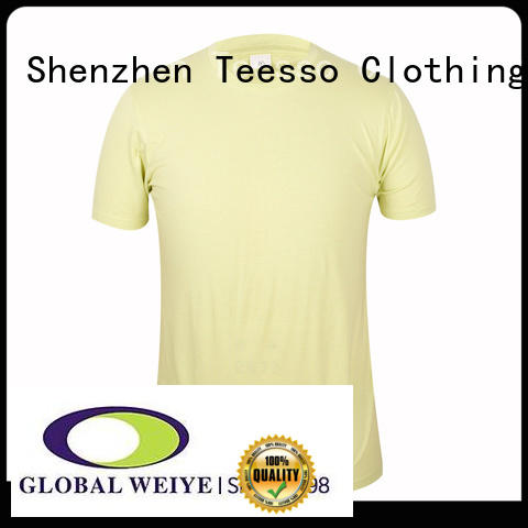 collar plain fitted t shirts with crew neck for women