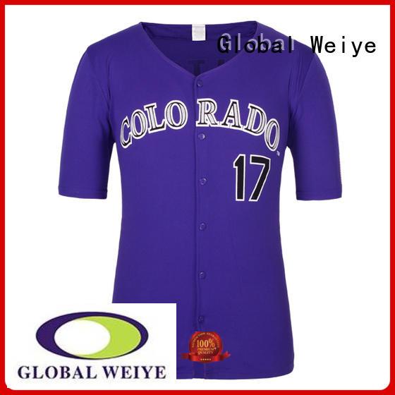 Global Weiye sublimation baseball jersey shirts for women