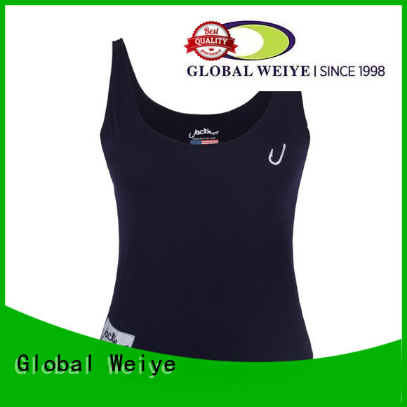Global Weiye plain cute womens tank tops fitness for sale