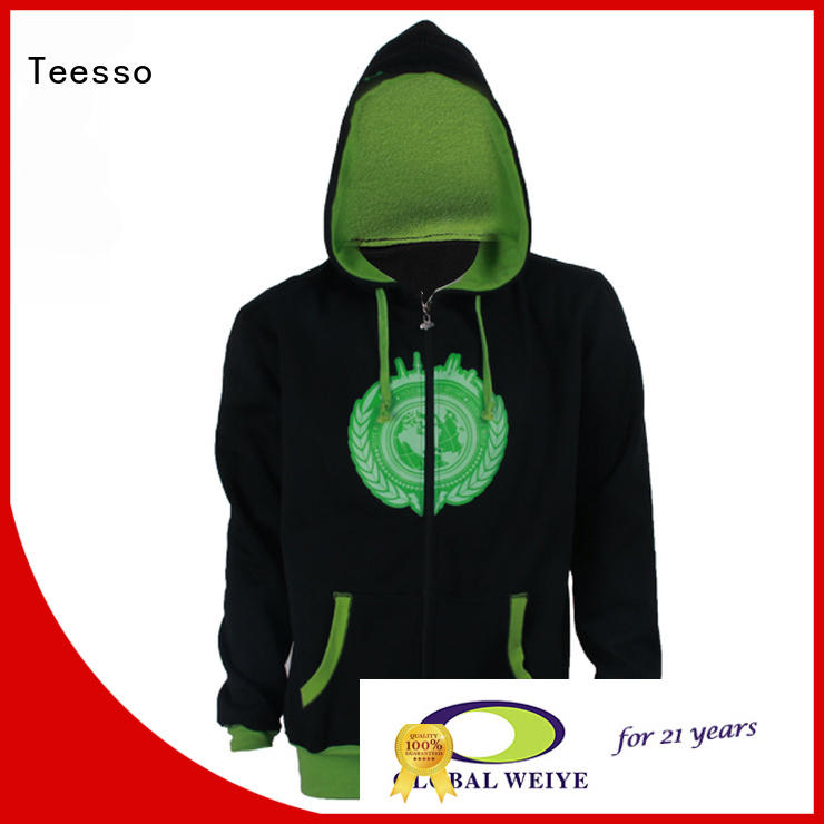 Teesso cute zip up hoodies printed logo wholesale