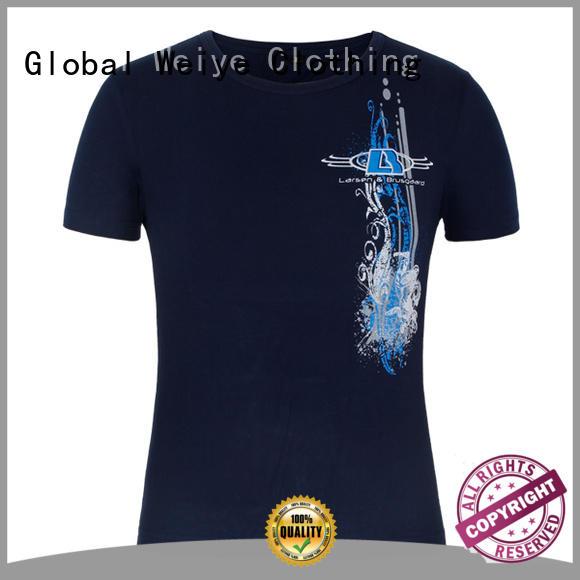 Global Weiye colorful printed shirt design letter for children