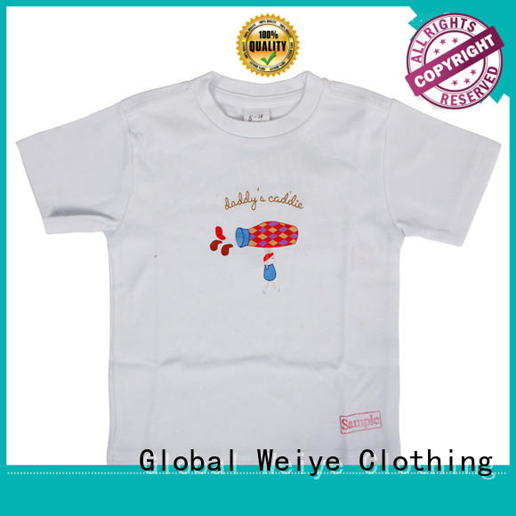 Global Weiye trendy 4 year old t shirt long round for children