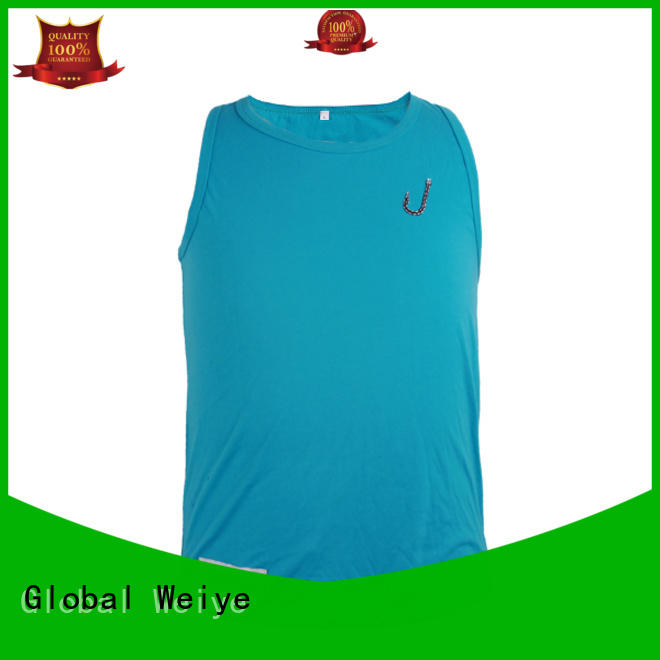 Global Weiye polyester best tank tops mens bodybuilding