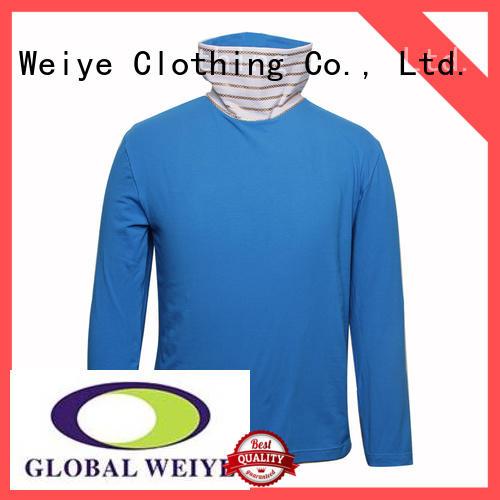 long sleeve shirts with high collar blank