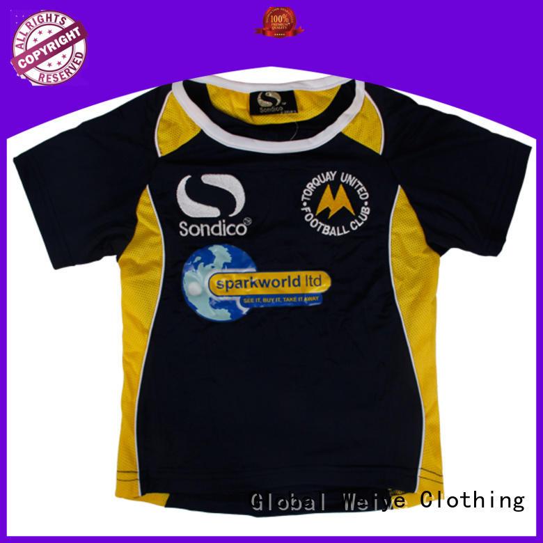 Global Weiye cool kids shirts neck for girls