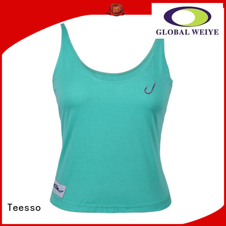 Teesso cotton ladies tank tops polyester wholesale
