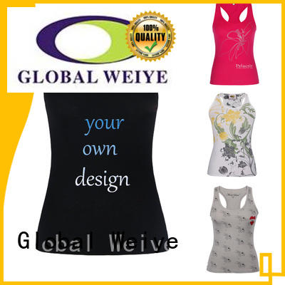 Global Weiye tank low cut tank tops womens stringer in china