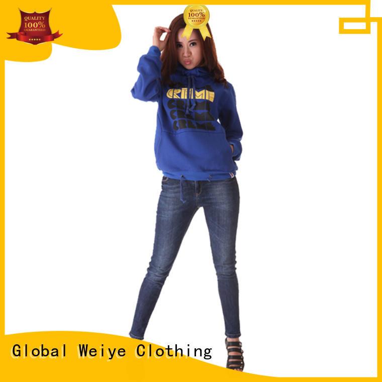 Global Weiye black hoodie womens design your own logo for men