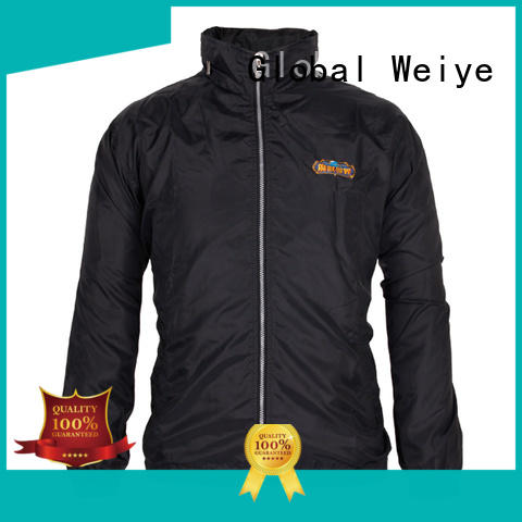 Global Weiye windbreaker black coat jacket for men
