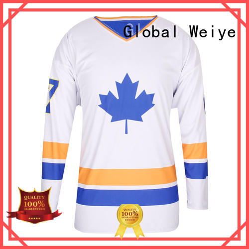 Global Weiye field custom hockey jerseys long sleeve for women