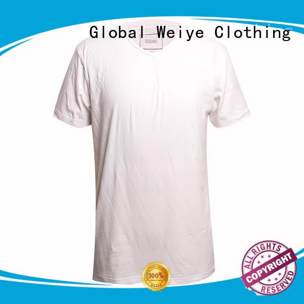 blank tshirt white short sleeves 95%cotton 5%lycra