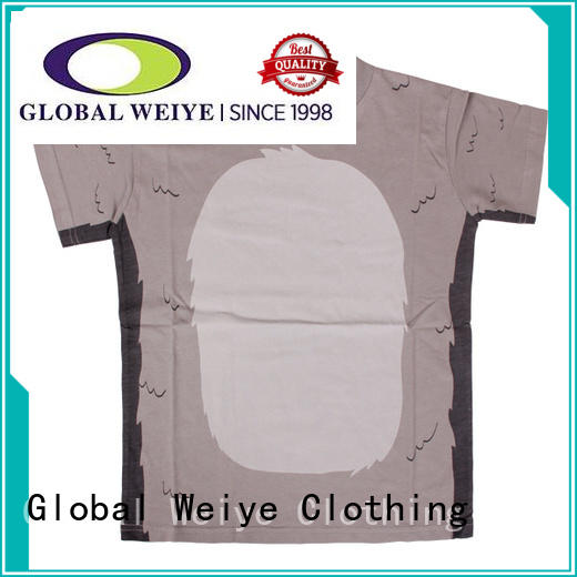 Global Weiye design kids t shirt contrast for girls