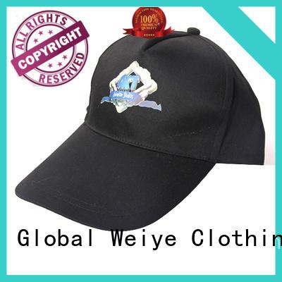 Global Weiye cool boys baseball caps embroidered for sports