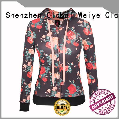 black cute zip up hoodies coat wholesale