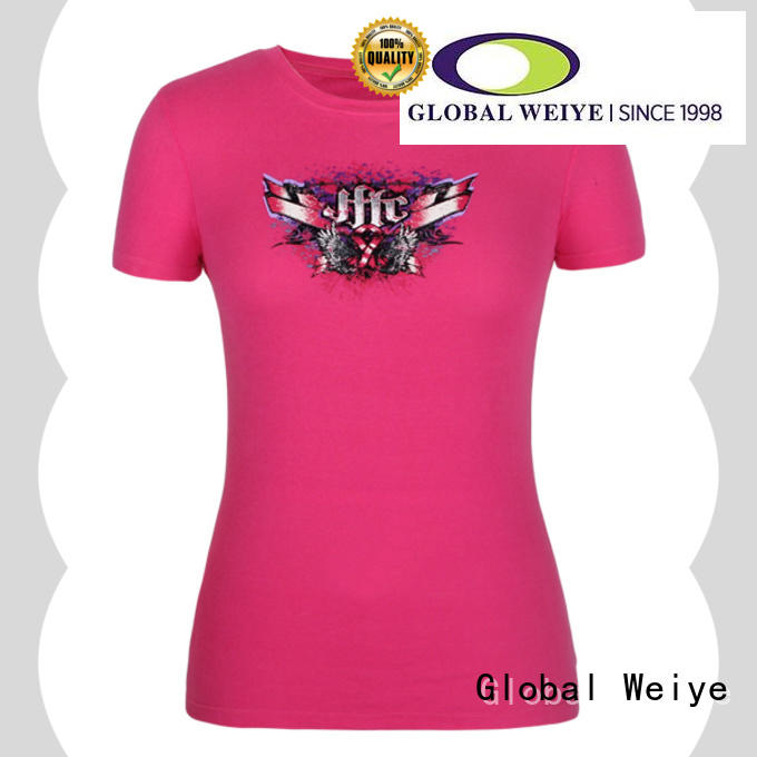 Global Weiye casual women's t shirts online printing for ladies