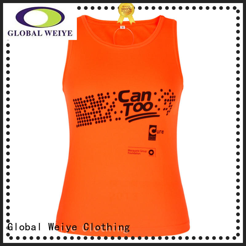 Global Weiye cotton low cut tank tops womens for sale