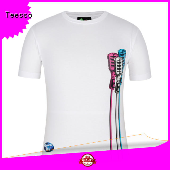 Teesso pattern men's fashion t shirts manufacturers for party