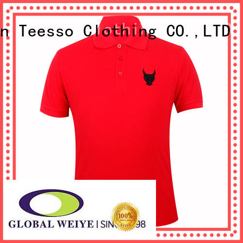 Teesso grey men polo shirt on tee from china