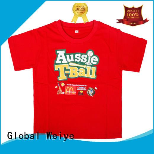 Global Weiye high quality cool kids t shirts neck for children