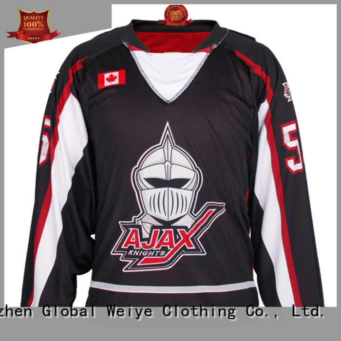 Global Weiye apparel funny hockey jerseys for women