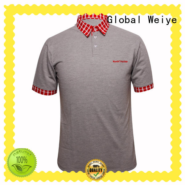 grey polo shirt embroidered logo in china