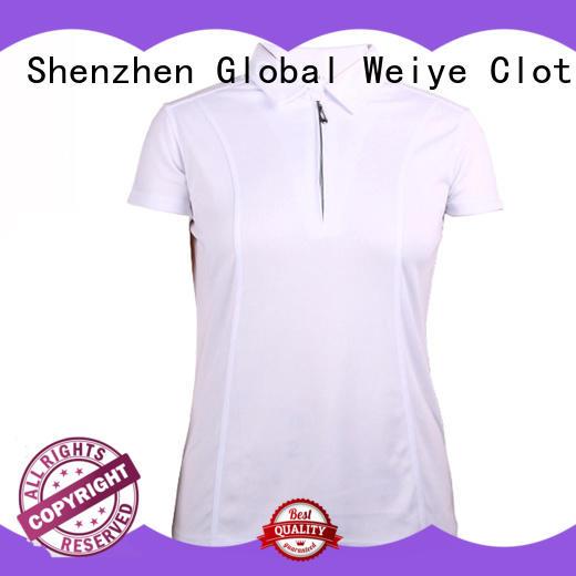 Global Weiye customized ladies cotton polo shirts logo for ladies