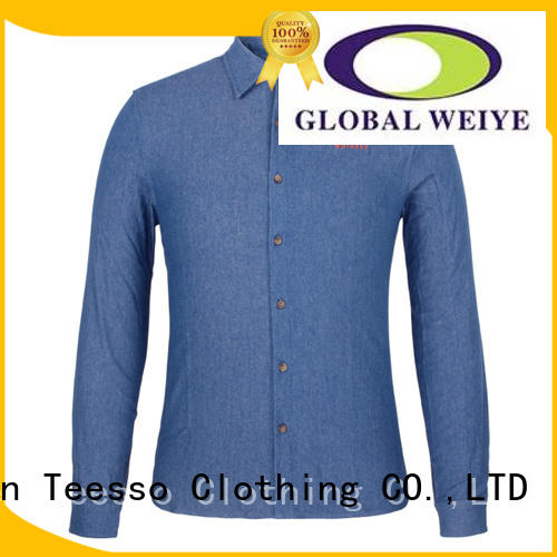 Teesso curved work uniform shirts for business for men