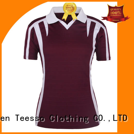 Teesso black womens polo bulk wholesale