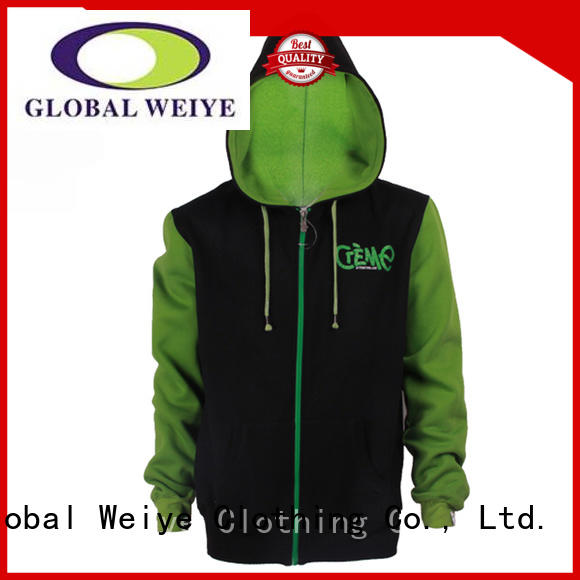 crop top zip up hoodie for women Global Weiye