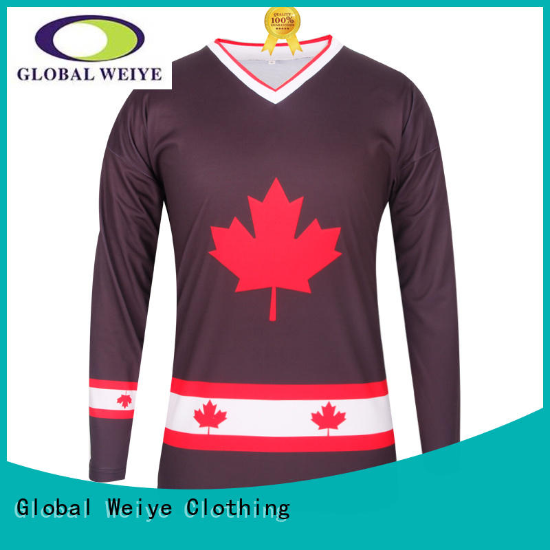 Global Weiye clothing ice hockey tops worn for men