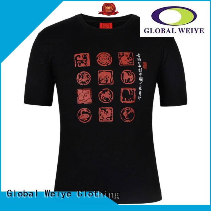 order printed t shirts online shenzhen manufactures Global Weiye Brand printed shirt design