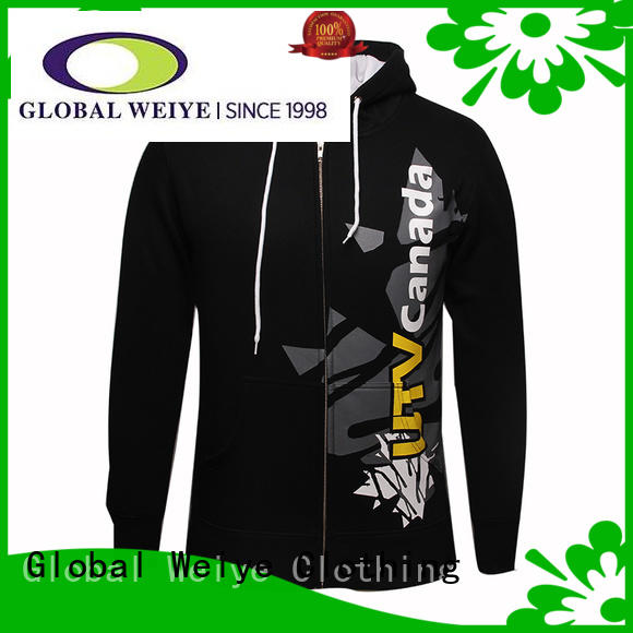 Global Weiye black womens zip up hoodie latest for women