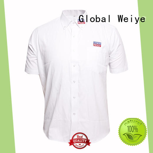 Global Weiye blank company uniform shirts with zipper for women