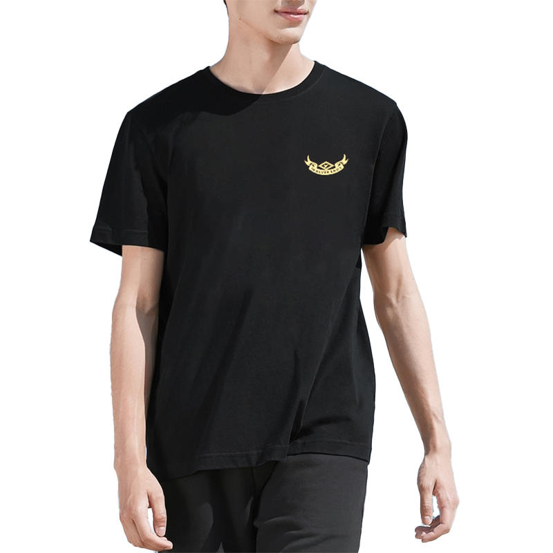 Brand Quality China Factory OEM Customised Design Mens Black High Quality T-shirt