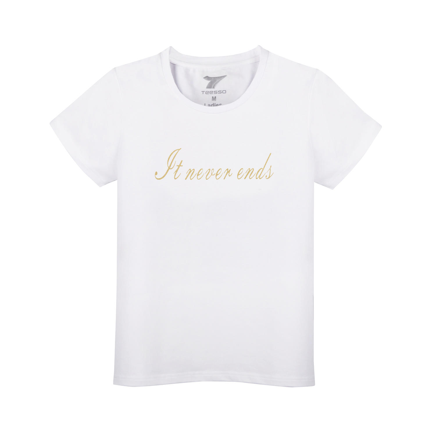 Brand Quality Tee Shirts With Logo Customize For Women High Quality Printing 5% Spandex 95% Cotton White T Shirt