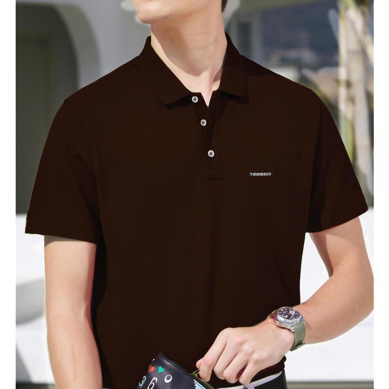 Brand Quality 100% Cotton Mens Polo T-Shirt Design Printing With Custom Logo