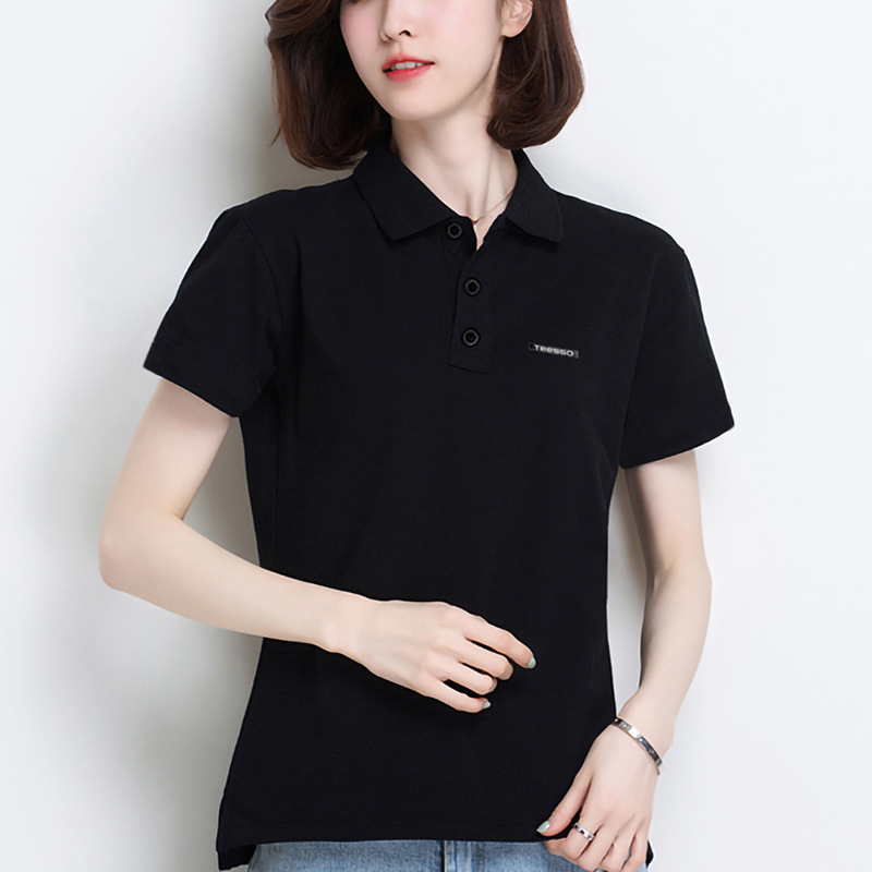 Brand Quality Custom Uniform New Design Women Short Sleeve Polo Shirt with Logo