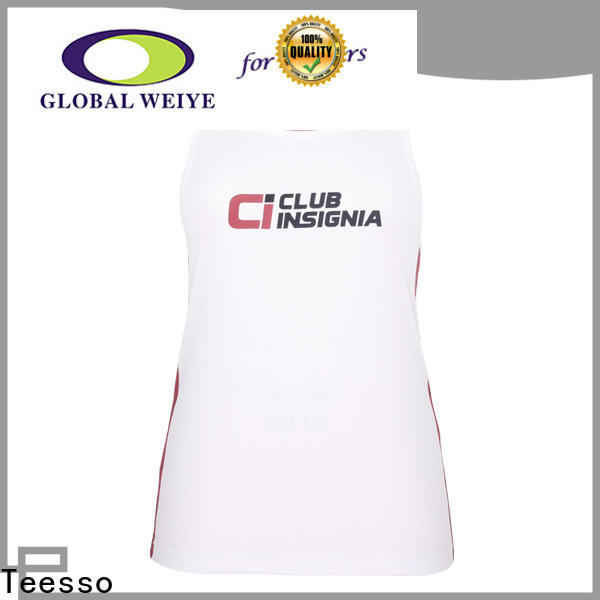 Teesso white low cut tank tops womens supply for ladies