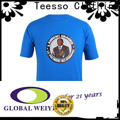 Teesso new campaign shirts suppliers for activities