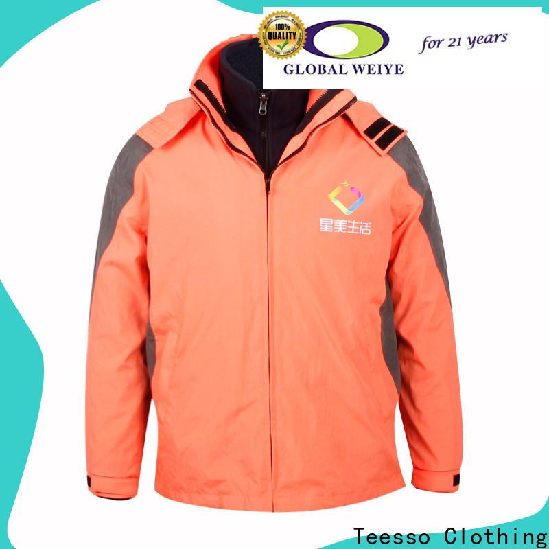 Teesso color dark green jacket mens manufacturers wholesale