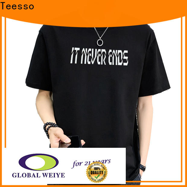 Teesso plain shirts for mens factory in shenzhen