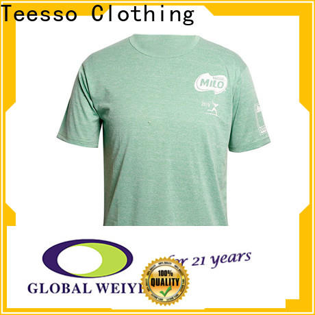 Teesso embroidery cheap mens t shirts factory for men