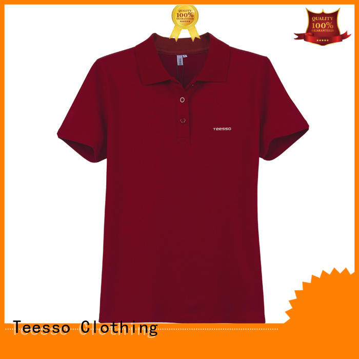 Teesso slim polo t shirts for women manufacturers for sale